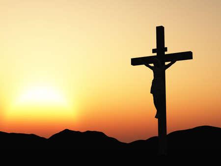 croix rouge: La crucifixion. Une croix avec J�sus-Christ. Une bible th�me