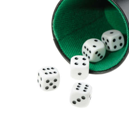 isolated dices. Game cubes on a white background  photo