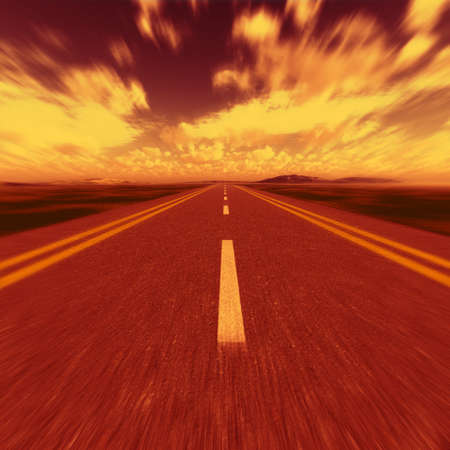 road to hell. A transport highway with to hell Stock Photo - 4378364