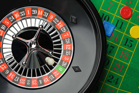 Roulette. Gambling in game establishments of a casino