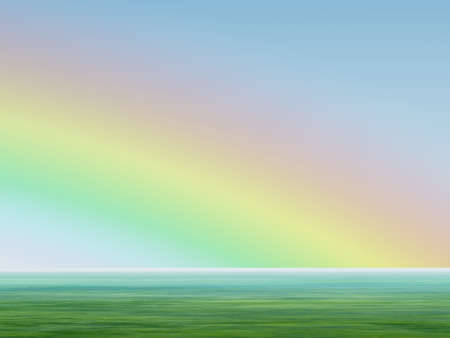 Rainbow in the sky. 3d rendering of natural effect - a rainbow Stock Photo - 4476679