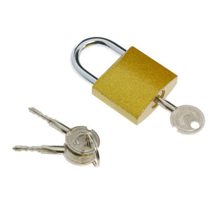 locking: Lock.The locking device interfering penetration into any space Stock Photo