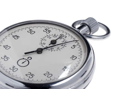 stopwatch. Analog watch that can be immediately stopped and started by pressing a button. Made in USSR Stock Photo - 4551529