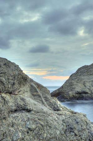 The night sea. The sea photographed at a dawn with long endurance. Crimea, Ukraine Stock Photo - 4581260