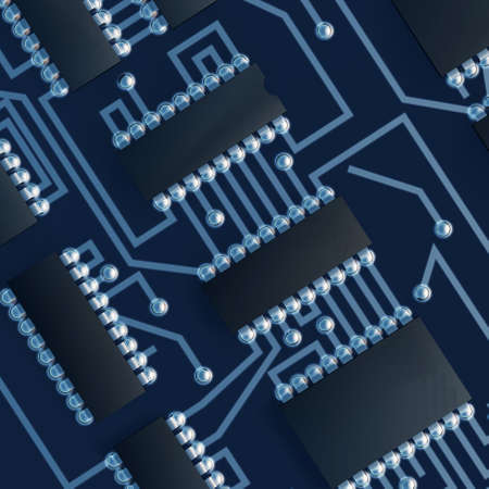 up code: Motherboard a computer. Shone details of soldering Stock Photo