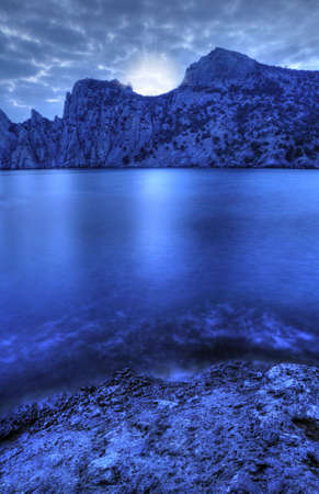 The night sea. The sea photographed at a dawn with long endurance. Crimea, Ukraine Stock Photo - 4647597