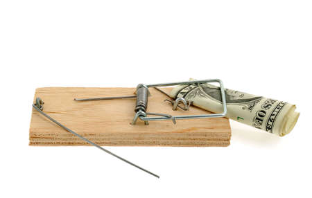 Mousetrap with dollar. The adaptation for catching mice and other fine rodents Stock Photo - 4677418