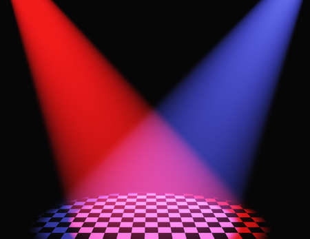 limelight: Volumetric light. Rays of light from projectors on a surface