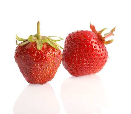l nutrient: Strawberry. A berry isolated on a white background