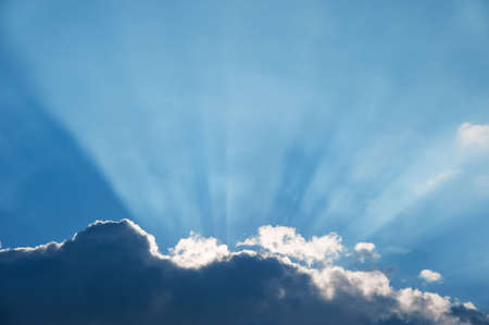 Cloud and beams of the sun. A greater thundercloud and beams of the sun because of it Stock Photo - 4910366