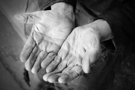 70: Hands of the old woman - 85 years age. 70 years works in collective farm. Russia.