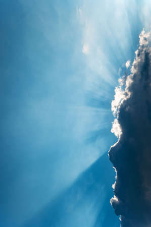 Cloud and beams of the sun. A greater thundercloud and beams of the sun because of it Stock Photo - 5128194