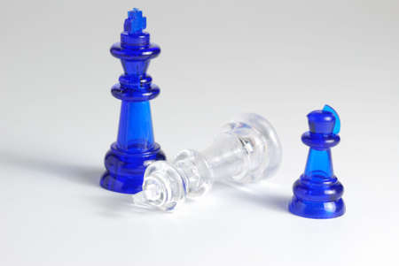 Chess. A logic board game. A material - glass photo