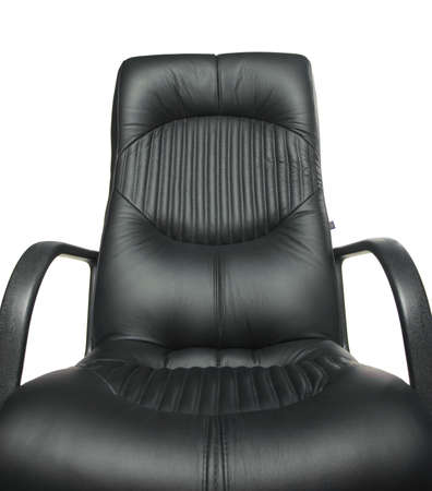 subject: Office armchair. A subject of furniture with a upholstery from a natural leather