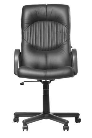 föremål: Office armchair. A subject of furniture with a upholstery from a natural leather