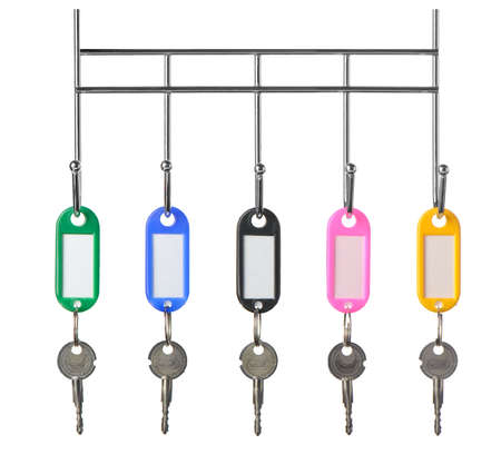 trinkets: Keys with color trinkets. In trinkets a white empty label for records