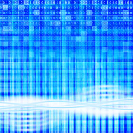 digital background. An abstract background from rays of light and a binary code Stock Photo - 5454242
