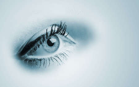 Female blue eyes. A photo close up, a part face Stock Photo - 5530997
