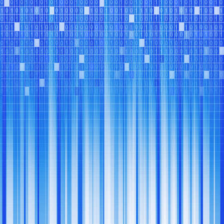 digital background. An abstract background from rays of light and a binary code Stock Photo - 5544171