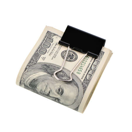 pack of dollars: pack dollars. Monetary unit of the USA, it is isolated on a white background