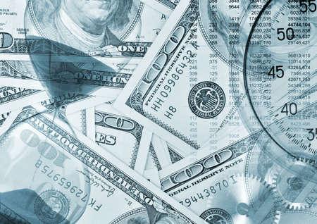 Background concept - Time money. Blue tone