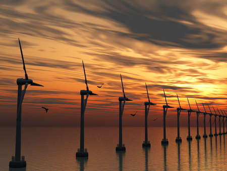 Wind power stations photo