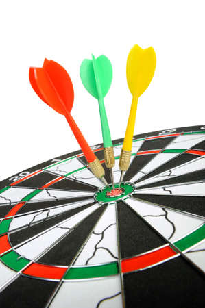 Board for darts. It is isolated on a white background photo