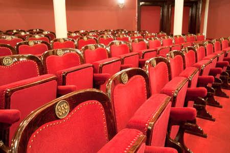 odessa: Theatrical armchairs. An interior of opera theatre. Odessa, Ukraine