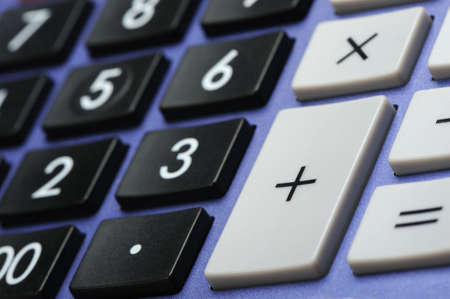 decimal: The digital keyboard. A photo close up
