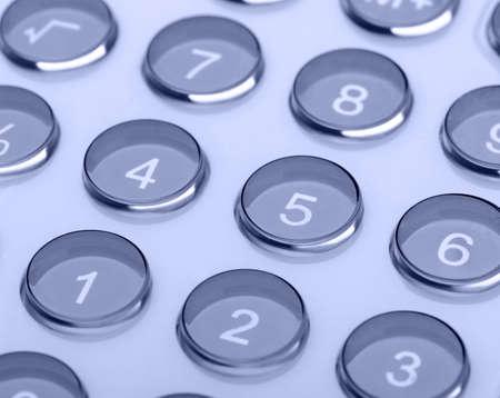 numerator: The digital keyboard.   close up