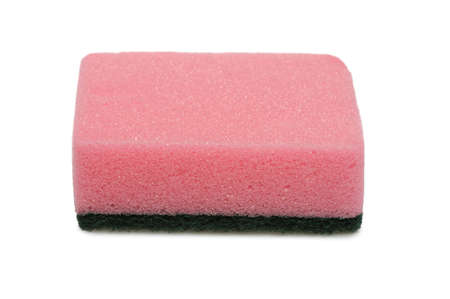 Sponge for washing. It is isolated on a white background. photo