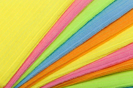 multi colour: Towel a background. Double color towels. A photo close up