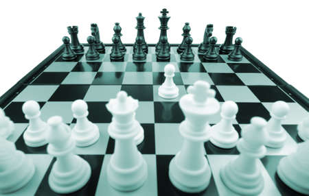 Chess.The first movement white. A logic board game Stock Photo - 6811791
