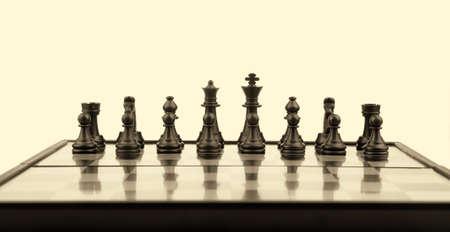 Chess. Desktop logic game. Old color tone Stock Photo - 6811797