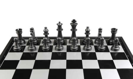 Chess. Desktop logic game. Black figure Stock Photo - 6811801