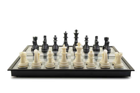 Chess. Desktop logic game. Isolated on white photo