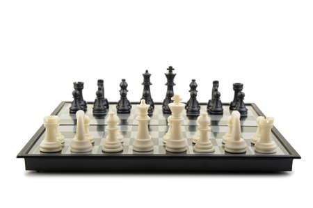 Chess. Desktop logic game. Isolated on white Stock Photo - 6811808