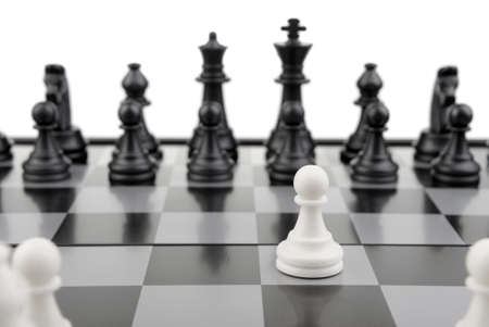 Chess.The first movement white. A logic board game Stock Photo - 6811816