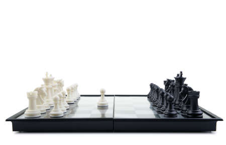 Chess.The first movement white. A logic board game photo