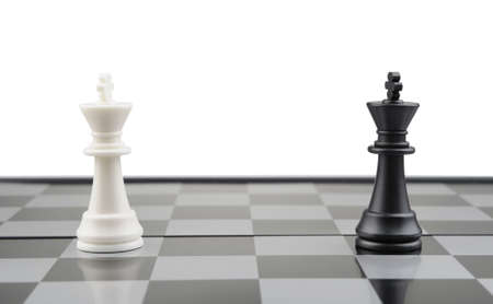 Opposition. Chessmen of competing kings, conceptual concept of competition Stock Photo - 6826627