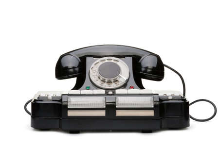 Ancient phone. Multipurpose phone of manufacture of the USSR. It was used in 1950 Stock Photo - 6985449