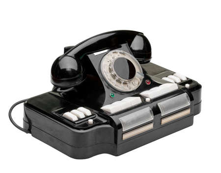 Ancient phone. Multipurpose phone of manufacture of the USSR. It was used in 1950 Stock Photo - 6985448