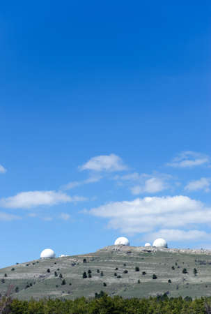 scientifically: Observatory. Scientifically research station on mountain. The East Europe Stock Photo