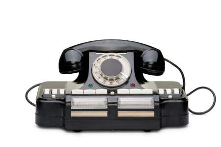 Ancient phone. Multipurpose phone of manufacture of the USSR. It was used in 1950 Stock Photo - 7118812