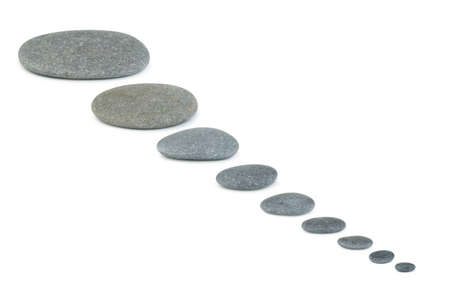 Row pebbles. Sea stones. It is isolated on a white background Stock Photo - 7337168