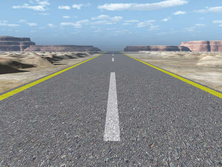 Asphalt road. A transport highway with the blue sky. A transport highway with the blue sky Stock Photo - 7395719