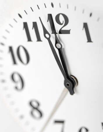 acute angle: Dial of analog hours. A photo close up.