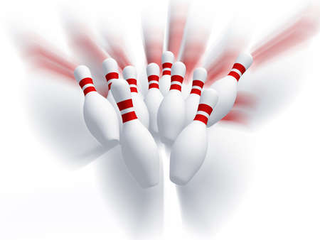skittles: Skittles for game in bowling. Effect motion. It is isolated on a white background