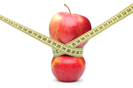 apple and meassuring type Stock Photo - 8207072