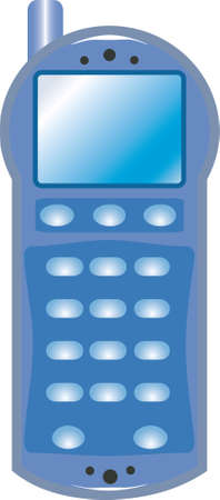 personal data assistant: Abstract mobile phone. An example of a childrens toy